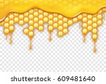 background with honeycombs ... | Shutterstock .eps vector #609481640