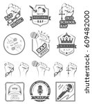 set of logos  badges and... | Shutterstock . vector #609482000