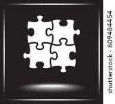 puzzle sign icon  vector... | Shutterstock .eps vector #609484454