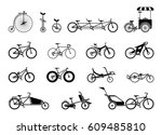 set of icons representing... | Shutterstock .eps vector #609485810