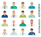 doctor profile heads vector... | Shutterstock .eps vector #609485894