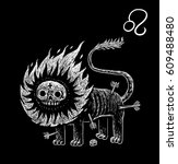 leo zodiacal symbol. astrology  ... | Shutterstock . vector #609488480