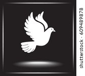 dove sign icon  vector... | Shutterstock .eps vector #609489878