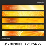 set design elements business... | Shutterstock .eps vector #609492800