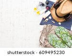 men's casual summer clothes... | Shutterstock . vector #609495230