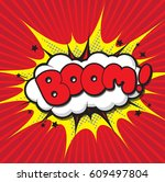 comic speech bubble designed... | Shutterstock .eps vector #609497804
