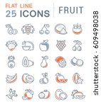 set  line icons in flat design... | Shutterstock . vector #609498038