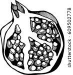 pomegranate   Shutterstock .eps vector #609502778