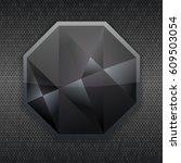 vector glassy hexagon button ...   Shutterstock .eps vector #609503054