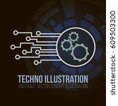 circuit board banner vector on...   Shutterstock .eps vector #609503300