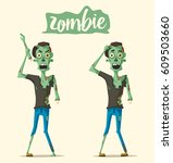 good and bad zombie character.... | Shutterstock .eps vector #609503660