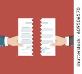 contract termination concept.... | Shutterstock .eps vector #609506570