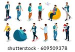 trendy isometric vector people  ... | Shutterstock .eps vector #609509378