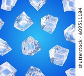 background with ice cubes   Shutterstock .eps vector #609511184