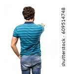 young cool man back | Shutterstock . vector #609514748