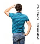 young cool man back | Shutterstock . vector #609514760
