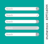 search bar. template isolated   Shutterstock .eps vector #609516044