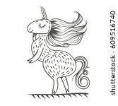 vector sketch of a funny... | Shutterstock .eps vector #609516740
