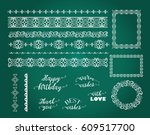 big set of elegant decorative... | Shutterstock .eps vector #609517700