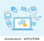 vector illustration in flat... | Shutterstock .eps vector #609519584
