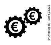 money working icon. euro coins... | Shutterstock . vector #609523328