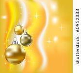 christmas balls and stars... | Shutterstock .eps vector #60952333