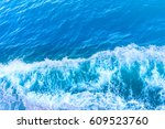 waves in ocean splashing waves | Shutterstock . vector #609523760