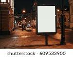 vertical blank glowing... | Shutterstock . vector #609533900