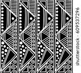 seamless vector pattern. black... | Shutterstock .eps vector #609537296