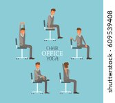 vector illustration with office ... | Shutterstock .eps vector #609539408
