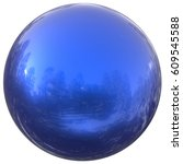 Blue Sphere Round Button Ball...