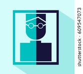 vector flat man in glasses icon....