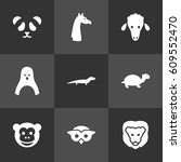set of 9 alive icons set... | Shutterstock .eps vector #609552470