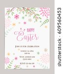 happy easter holiday background.... | Shutterstock .eps vector #609560453