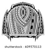 maori style tattoo. good for... | Shutterstock .eps vector #609570113