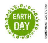 happy earth day  vector... | Shutterstock .eps vector #609572720