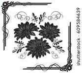 a beautiful bouquet of gazania... | Shutterstock .eps vector #609584639