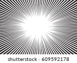 background of radial lines for... | Shutterstock .eps vector #609592178