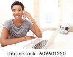 portrait of african american... | Shutterstock . vector #609601220