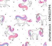 Seamless Beautiful Unicorns...