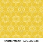 seamless floral pattern with... | Shutterstock .eps vector #609609338