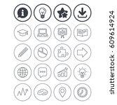 information  light bulb and... | Shutterstock .eps vector #609614924