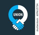 vector logo handshake | Shutterstock .eps vector #609615734