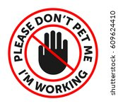 service dog badge  sticker with ... | Shutterstock .eps vector #609624410