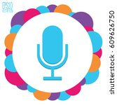 microphone icon. flat style for ... | Shutterstock .eps vector #609626750