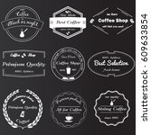 set of vintage monochrome... | Shutterstock .eps vector #609633854
