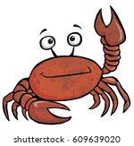 illustrated crab | Shutterstock . vector #609639020