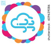 weather icon. flat style for... | Shutterstock .eps vector #609639086
