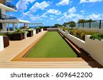beautiful upscale bocce ball... | Shutterstock . vector #609642200