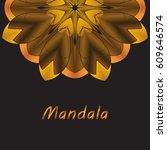 template frame for cards ... | Shutterstock .eps vector #609646574